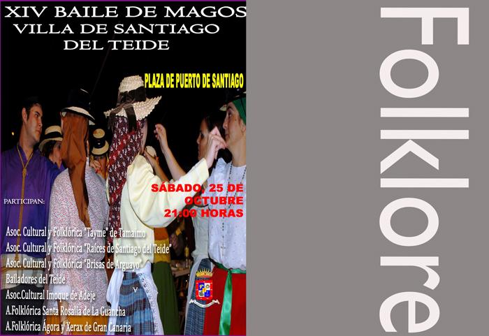 Este sábado 25 se desarrolla la XIV edición del Baile de Magos Villa de Santiago del Teide