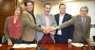 José Miguel Rodríguez Fraga, José Julián Mena, Pedro Martín, Marco Aurelio Pérez y Onalia Bueno