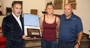 El alcalde, junto al concejal de Deportes, Adolfo Alonso, realizó una recepción en el Convento de Adeje